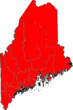 United States Senate election in Maine, 1994 - Image: 06Maine Senate Counties