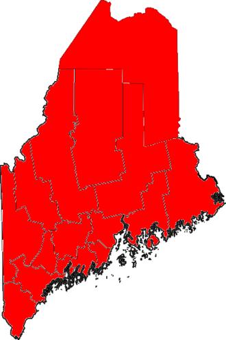 United States Senate election in Maine, 1994 - Image: 06Maine Senate Counties