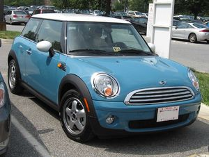 2007 Mini Cooper photographed in USA.