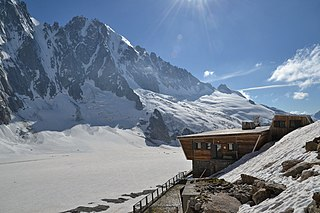 Argentière Hut Refuge in the Ligurian Alps in Italy