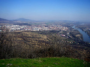 Vršovci - Litoměřice as seen from the Radobýl Hill