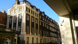 Adelphi, London - Current view of the remaining building at 11 Adelphi Terrace, the furthest left house of the original buildings when viewed from the river