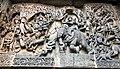12th-century Garuda with Vishnu Lakshmi, Indra and Indrani on elephant, Vishnu on Garuda at Shaivism Hindu temple Hoysaleswara arts Halebidu Karnataka India.jpg