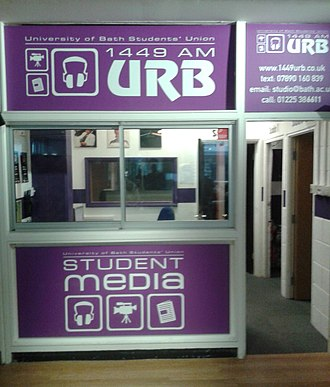 University Radio Bath - The URB Studio - Norwood House, University of Bath