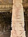15th-16th century Achyutaraya temple yoga asana 9, Hampi Hindu monuments Karnataka.jpg