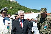 16 obljetnica vojnoredarstvene operacije Oluja 05082011 Ivo Josipovic Zdenko Simicic 477