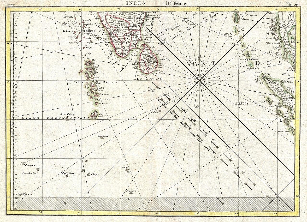 File1770 Bonne Map of Southern India Sri Lanka Ceylon the