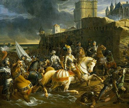 Francis, Duke of Guise at the Siege of Calais 1838 Francois-Edouard Picot - The Siege of Calais.jpg