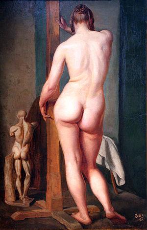 Julius Schnorr von Carolsfeld - Image: 1845 von Carolsfeld Weiblicher Rueckenakt anagoria