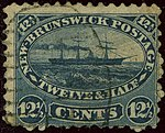1860ca 12half New-Brunswick used Yv8 Mi8 indigo SG18.jpg