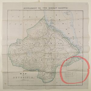 Gadabuursi - A 1867 Abyssinia Map from Bombay featuring the Somali clan of the Gadabursi.