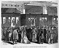 1870-12-12, La Ilustración de Madrid, Despedida de la Comisión Constituyente en la estación del Mediodía del camino de hierro del Mediodía, A. Perea.jpg