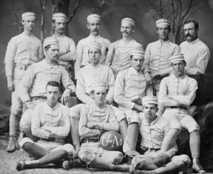 1879 Michigan Wolverines football team - Image: 1879 Michigan football team