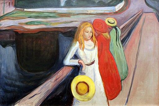 1901 Munch Mädchen auf der Brücke anagoria