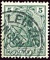 1905issue 5pfg Reich Leipzig-Lindenau Yv83 Mi85I.jpg