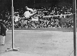 Athletics at the 1912 Summer Olympics – Men's high jump - Silver medalist Hans Liesche.