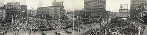 Grand Army of the Republic - GAR parade during the 1914 Encampment in Detroit, Michigan