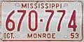 1953 Mississippi License Plate.jpg
