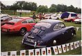 1954 Porsche 356 1500 Super with 911 line-up (16525976866).jpg