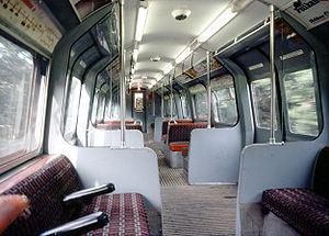 London Underground 1960 Stock - Inside 1960 tube stock Driving Motor car.