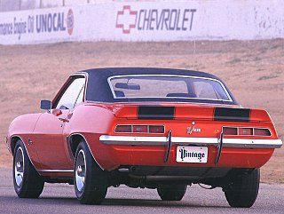 1969 Chevrolet Camaro Z 28 Sport Coupe Orange Rr Qtr.jpg