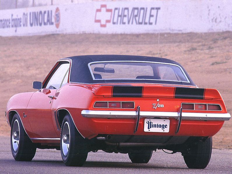 File:1969 Chevrolet Camaro Z 28 Sport Coupe Orange Rr Qtr.jpg