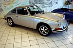 1969 silver Porsche 911E coupé Auto Salon Singen Germany.jpg