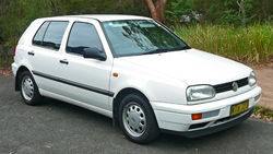1996–1998 Volkswagen Golf (1H) CL 5-door hatchback (Australia)