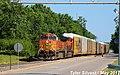 1 2 BNSF 4659 Leads EB Autorack Olathe, KS 5-13-17 (34690627282).jpg