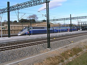 Perpignan–Barcelona high-speed rail line - Figueres-Vilafant: first TGV arrival from Paris, December 2010