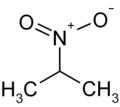 Struktur von 2-Nitropropan