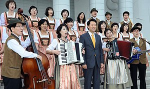 Music community - Korean choir in folk costumes (2010)