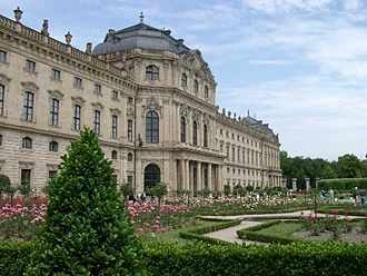 Würzburg Residence - The garden front of Würzburg Residence