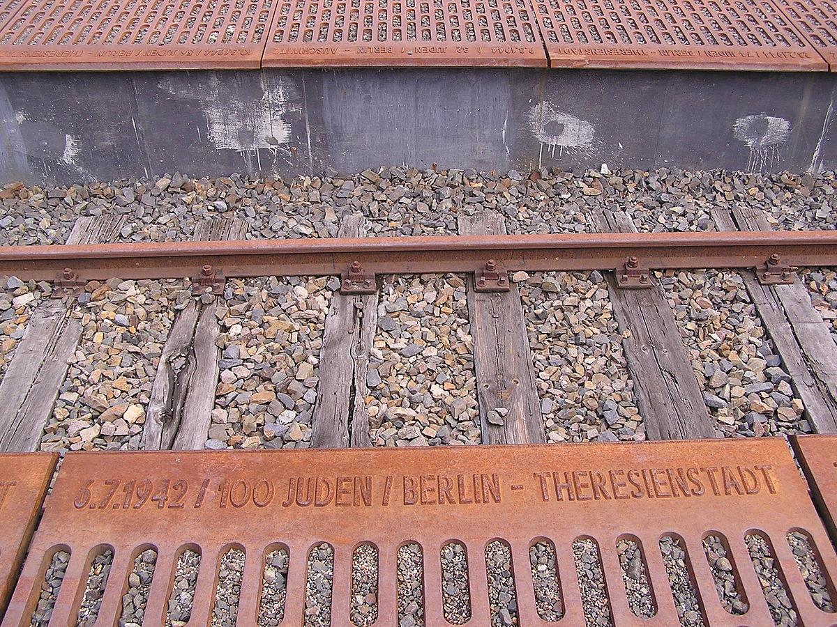 2006-08-11 Bahnhof Grunewald Mahnmal Gleis17 Detail.jpg