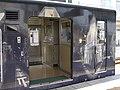 2007-08-26 JR- Yakujin Station,Kakogawa Line JNR103系改造車両 横尾忠則「走れ!Y字路」 8260233.JPG