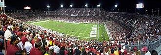Stanford Stadium - Image: 2008 1115 006 USC Stanford PAN