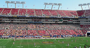 2008 ACC Championship Game - The stands at Raymond James Stadium were mostly empty on the day of the game.
