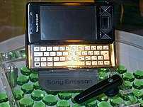 Sony Fair 2008: Sony Ericsson XPERIA X1 with Windows Mobile 6.1 Platform.