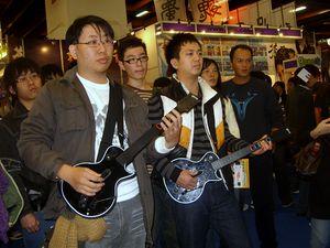 2008 Taipei Game Show: Gamers play Guitar Hero...