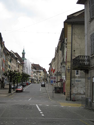 Porrentruy - Roads through the historic old town of Porrentruy
