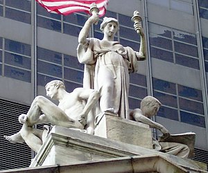Appellate Division Courthouse of New York State - Image: 2010 Appellate courthouse Daniel Chester French Justice