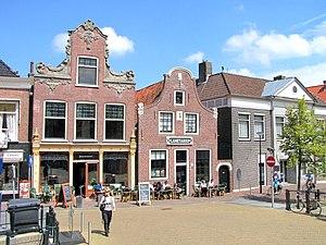 Franeker - The Eisinga Planetarium (right) and the adjacent bar in 2011