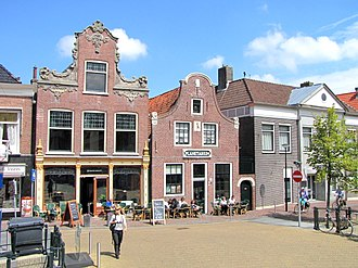 Franeker - The Eisinga Planetarium (right) and the adjacent bar in 2011