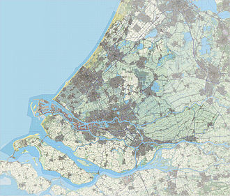 South Holland - A topographic map of South Holland as of 2013