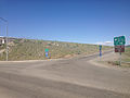 2014-06-11 16 03 52 Signs along U.S. Route 93 at the entrance to eastbound Interstate 80 and southbound Alternate U.S. Route 93 in Wells, Nevada.JPG