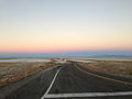 2014-10-28 07 55 26 View west just before sunrise along Interstate 80 at Exit 41 in Tooele County, Utah.JPG