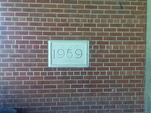 "Cedarbrae Collegiate Institute - The ""1959"" datestone for Cedarbrae S.S."