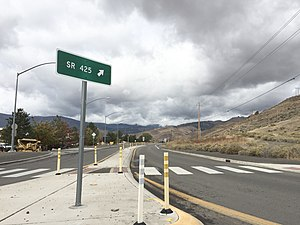 Nevada State Route 425 - View west along SR 425 just east of Verdi