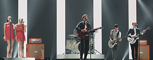 Denmark in the Eurovision Song Contest 2015 - Anti Social Media at a dress rehearsal for the first semi-final