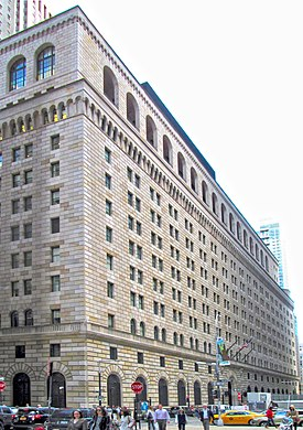 2015 Federal Reserve Bank of New York from west.jpg